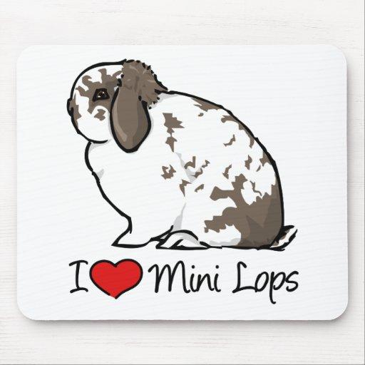 I Love Mini Lop Rabbits Mouse Mat