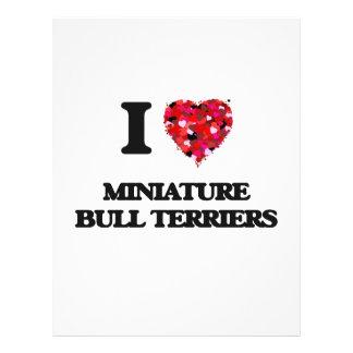 I love Miniature Bull Terriers 21.5 Cm X 28 Cm Flyer