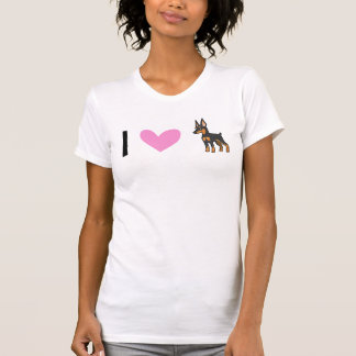 I Love Miniature Pinschers / Manchester Terriers T-Shirt