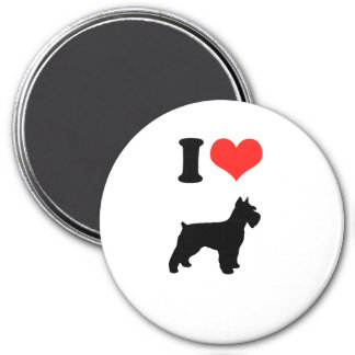 I Love Miniature Schnauzers 7.5 Cm Round Magnet
