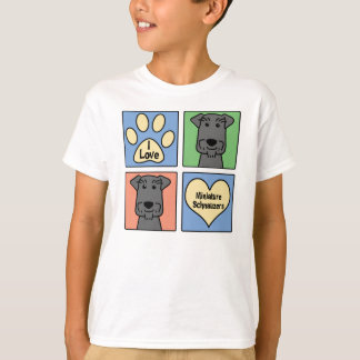 I Love Miniature Schnauzers T-Shirt