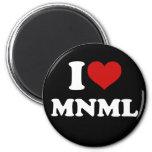 I Love Minimal 6 Cm Round Magnet