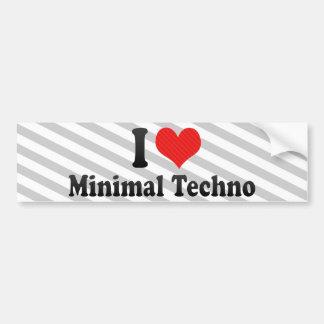 I Love Minimal Techno Bumper Sticker