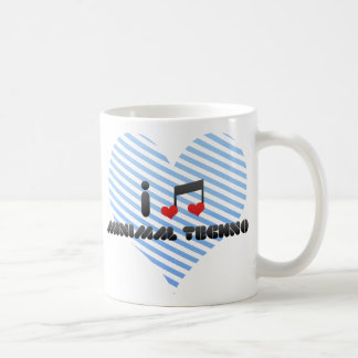 I Love Minimal Techno Coffee Mug