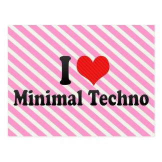 I Love Minimal Techno Postcards