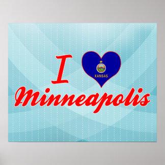 I Love Minneapolis, Kansas Posters