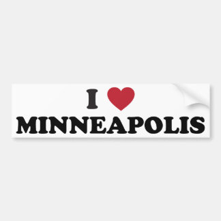 I Love Minneapolis Minnesota Bumper Sticker