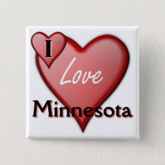 I Love Minnesota 15 Cm Square Badge