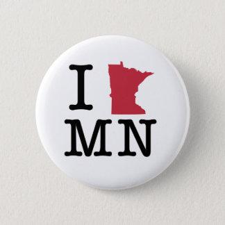 I Love Minnesota 6 Cm Round Badge
