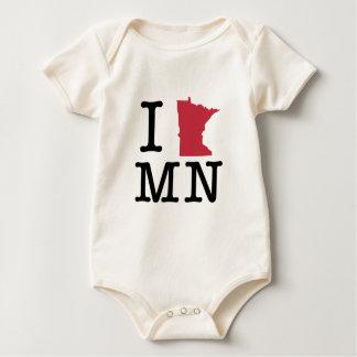 I Love Minnesota Baby Bodysuit