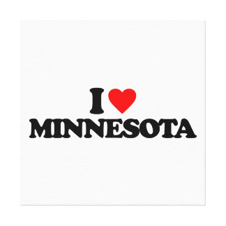 I LOVE MINNESOTA GALLERY WRAPPED CANVAS