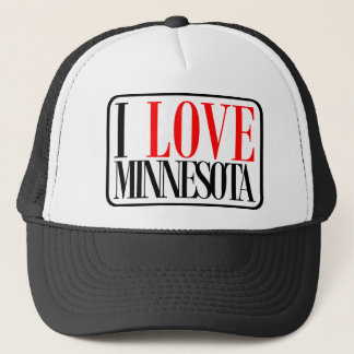 I Love Minnesota Design Trucker Hat