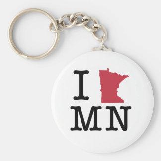 I Love Minnesota Key Ring