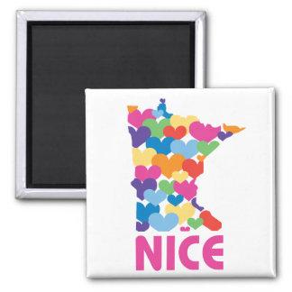 I love Minnesota Square Magnet