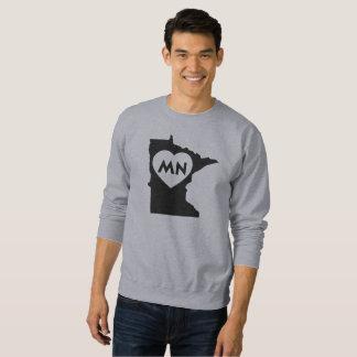 I Love Minnesota State Men's Basic Sweatshirt