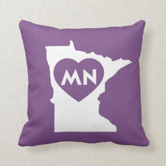 "I Love Minnesota State Throw Pillow 16"" x 16"""