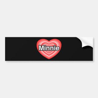 I love Minnie. I love you Minnie. Heart Bumper Stickers