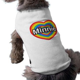 I love Minnie I love you Minnie Heart Doggie Tee Shirt