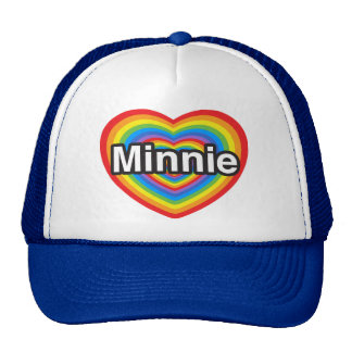 I love Minnie. I love you Minnie. Heart Hats