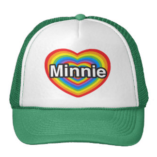 I love Minnie. I love you Minnie. Heart Mesh Hat