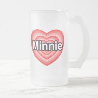 I love Minnie. I love you Minnie. Heart Mugs