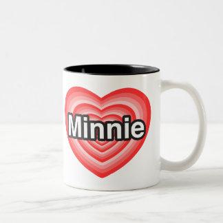 I love Minnie. I love you Minnie. Heart Coffee Mug