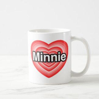 I love Minnie. I love you Minnie. Heart Mug