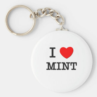 I Love Mint Keychains