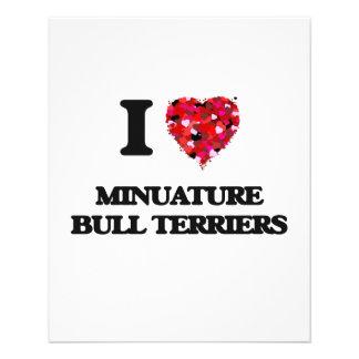 I love Minuature Bull Terriers 11.5 Cm X 14 Cm Flyer
