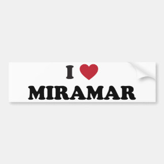 I Love Miramar Florida Car Bumper Sticker