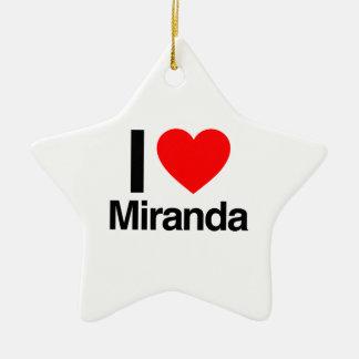 i love miranda christmas tree ornaments