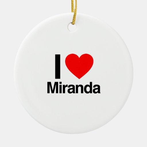 i love miranda christmas ornaments