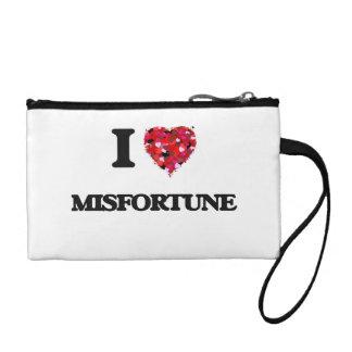 I Love Misfortune Coin Purses