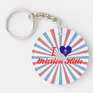 I Love Mission Hills, Kansas Key Chain