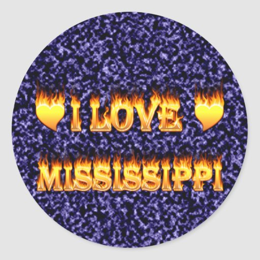 I love mississippi fire and flames sticker