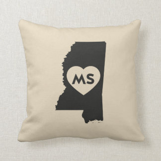 I Love Mississippi State Pillow