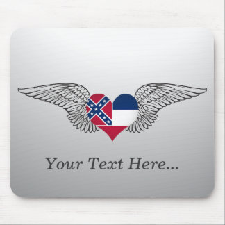 I Love Mississippi -wings Mouse Mat