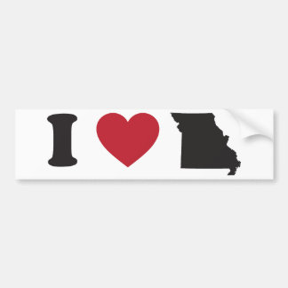 I love Missouri Bumper Sticker