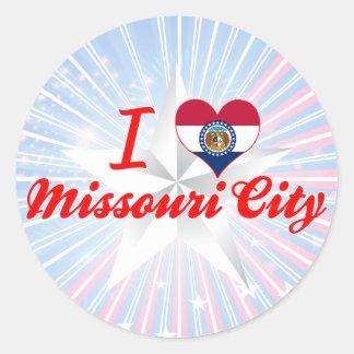 I Love Missouri City Missouri Round Stickers