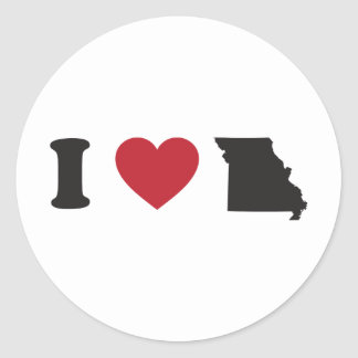 I love Missouri Stickers