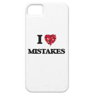 I Love Mistakes iPhone 5 Covers