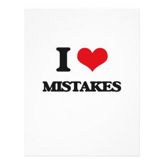 I Love Mistakes Flyer Design