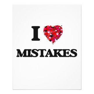 I Love Mistakes 11.5 Cm X 14 Cm Flyer