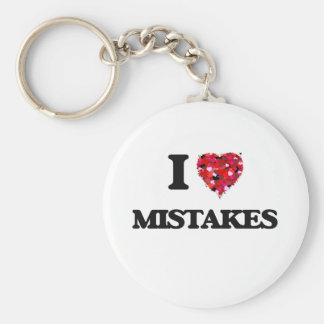 I Love Mistakes Basic Round Button Key Ring