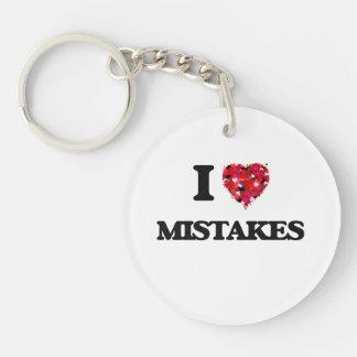 I Love Mistakes Single-Sided Round Acrylic Key Ring