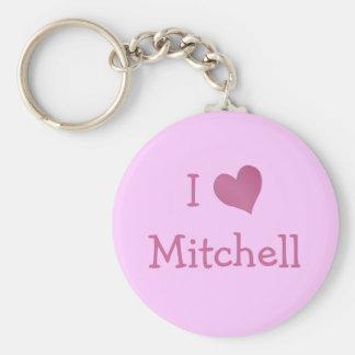 I Love Mitchell Key Ring