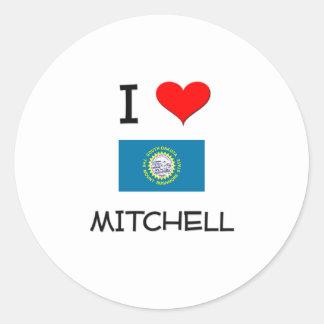 I Love Mitchell South Dakota Classic Round Sticker