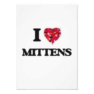 I Love Mittens 13 Cm X 18 Cm Invitation Card