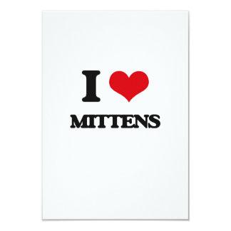 I Love Mittens 9 Cm X 13 Cm Invitation Card