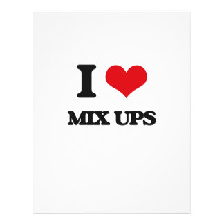 I Love Mix Ups Flyers